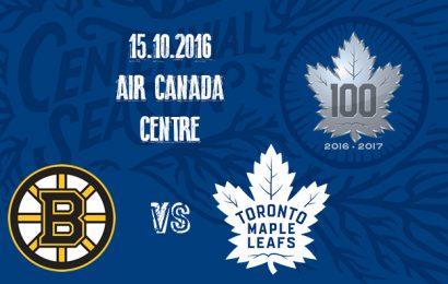 První zápas Maple Leafs na domácím ledě