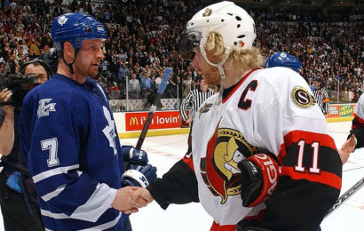 20. dubna 2004, Maple Leafs vyhrávají sedmý zápas Bitvy o Ontario