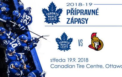 Leafs hrají podruhé v přípravě s Ottawou