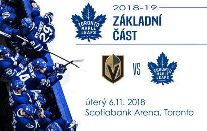 Leafs se vrací na domácí led. Hrají s Las Vegas