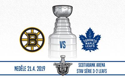 Zápas číslo 6 je tady. Leafs bojují o postup!