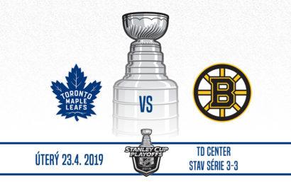 Maple Leafs jsou zpět v Bostonu. Hraje se zápas číslo 7!