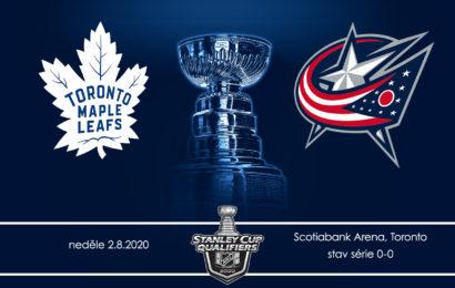 První zápas kvalifikačního kola playoff je tu. Leafs hrají s Blue Jackets