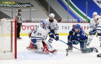 Nejistý Rittich v brance Maple Leafs inkasoval pět branek