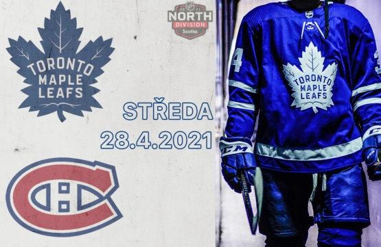Maple Leafs si mohou dnes večer na ledě Montrealu zajistit playoff
