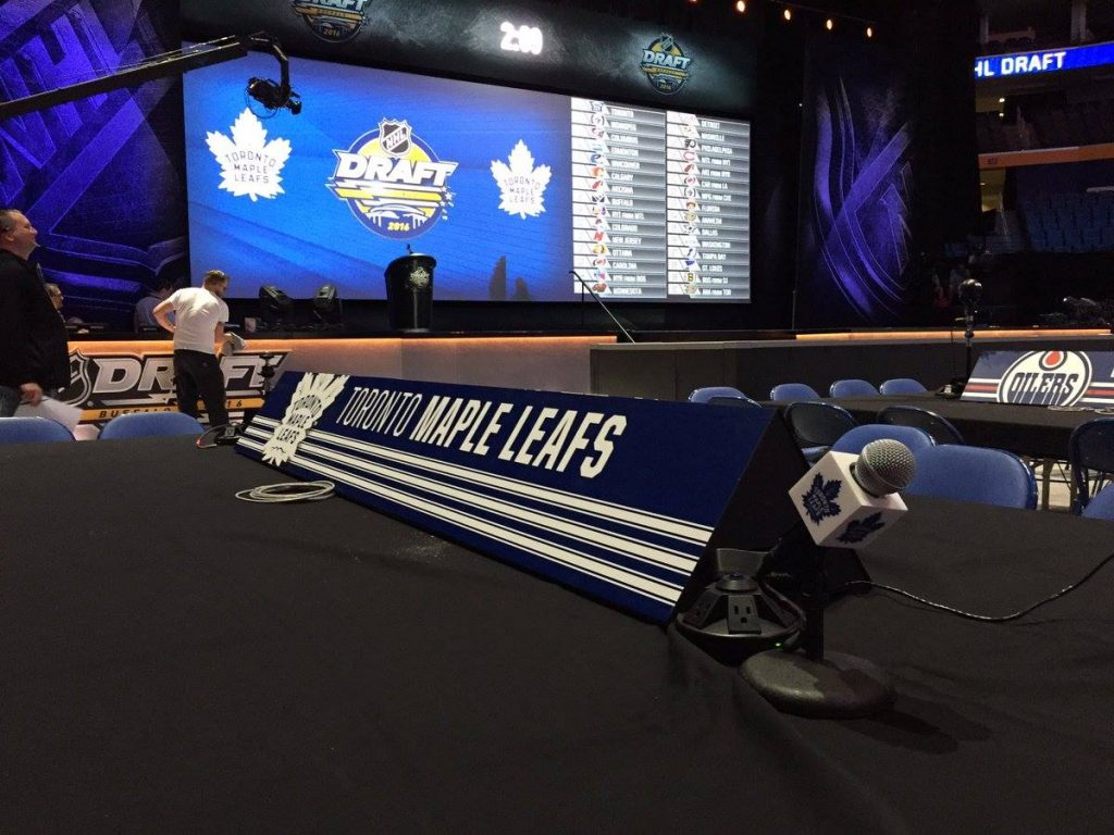 Maple Leafs Draft table 2016